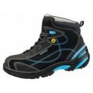 Ботинки защитные женские/мужские, черный/голубой 2590.34651