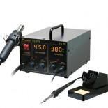 Паяльная станция SS-989B цифровая двухканальная (паяльник 60Вт, фен 24л/мин, LED-индикация, антистатическая защита)