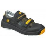 Ботинки 2590.1275 unisex черно-желтые