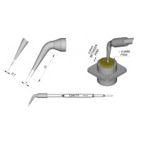 Картридж-наконечник JBC C245-771  наклонный 1 х 0,1 мм (для пайки разъемов)