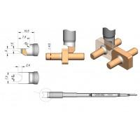 Картридж-наконечник JBC C470-042 для пайки кабеля или штырьковых выводов до Ø=4,5 мм