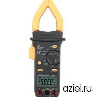 Клещи токоизмерительные MS2101 цифровые автоматические ACA&DCA(ACV/DCV, сопр.,прозвон,частота,темп. скважность,емкость,авто диапазон) Mastech