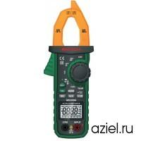 Клещи токоизмерительные MS2109A цифровые автоматические ACA&DCA(ACV/DCV, сопр.,прозвон,темп,емкость,частота,скважность,авто диапазон) Mastech