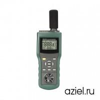 Тестер параметров окружающей среды MS6300 многофункциональный (темп., влажность, освещенность, скорость/поток воздуха, уровень шума) Mastech