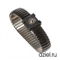 Браслет заземления металлический кнопка 7 мм средний 2053.750.M.7