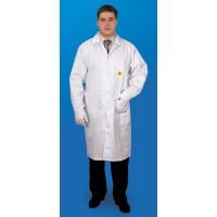 Халат мужской антистатический длина до колена с отрезным бочком