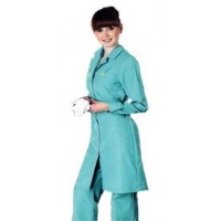 Халат женский антистатический длина до колена, длинный рукав, 3 кармана