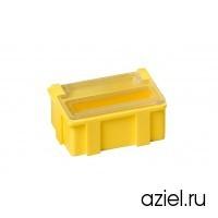 Коробка антистатическая для SMD 37x12x15 мм желтая, с прозрачной крышкой 5101.Y.881