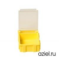Коробка антистатическая для SMD 40x37x15 мм желтая, с прозрачной крышкой 5101.Y.882