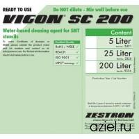 Промывочная жидкость для очистки трафаретов VIGON SC 200, концентрат, бутылка 1 литр