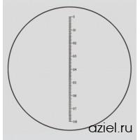 Шкала измерительная настольная 25 мм (цена деления 0,1 мм) арт VS4/0005 для LYNX