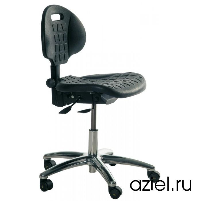 Промышленный полиуретановый стул на проводящих колесах наливной пол для конюшен