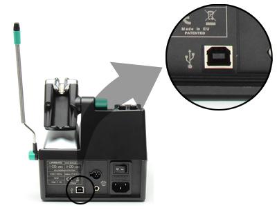 Цифровая одноканальная паяльная станция JBC CS-2E (подключение)